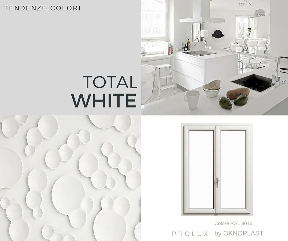 Interni total white con le finestre in pvc bianche for Finestre pvc bianche