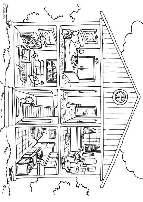 Coloring page house - interior - coloring picture house ...
