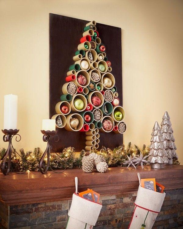 Ber 20 diy ideen wie sie einen weihnachtsbaum basteln weihnachten pinterest - Weihnachtsbaum wand ...