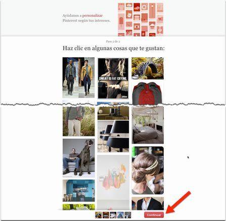 Cómo abrir una cuenta en Pinterest: Personaliza Pinterest según tus intereses