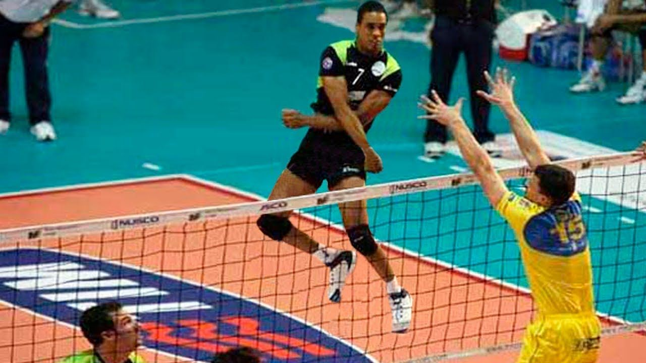 Legend Of Volleyball Leonel Marshall Monster Jump Spike 383 Cm Monster Jump Volleyball Legend