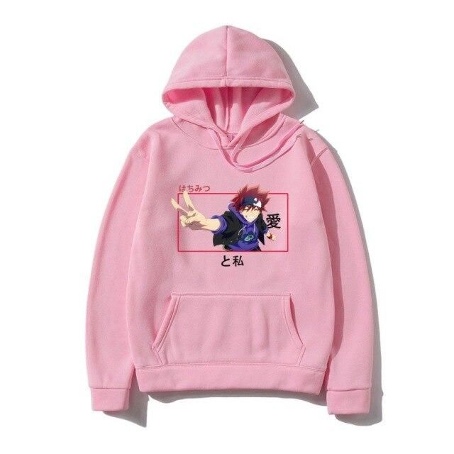 Photo of Anime Cosplay Costume Unisex Printed Casual Hoodies – Pink / XXXL