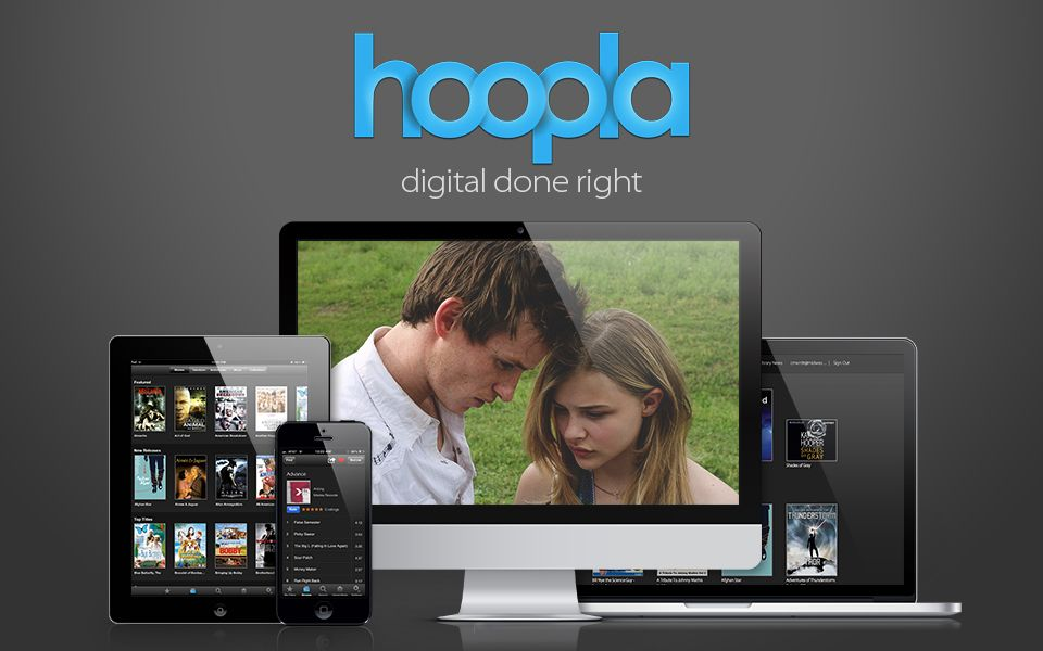 Hoopla Digital Streaming Movies, Music Albums and