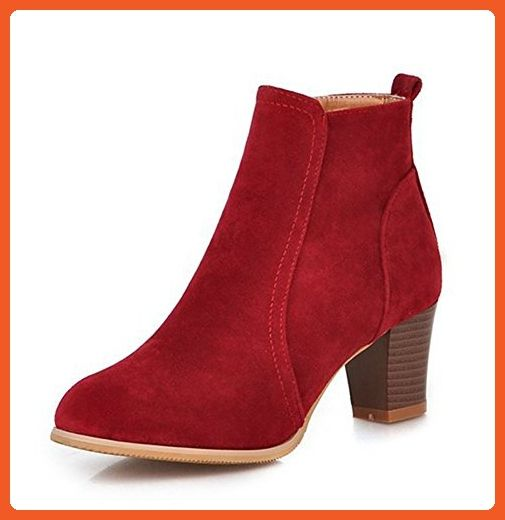 3dac6fcd362 Aisun Women s Simple Pointed Toe Side Zipper Dress Stacked Medium Heels  Ankle Boots Shoes Red 11 B(M) US - Boots for women ( Amazon Partner-Link)