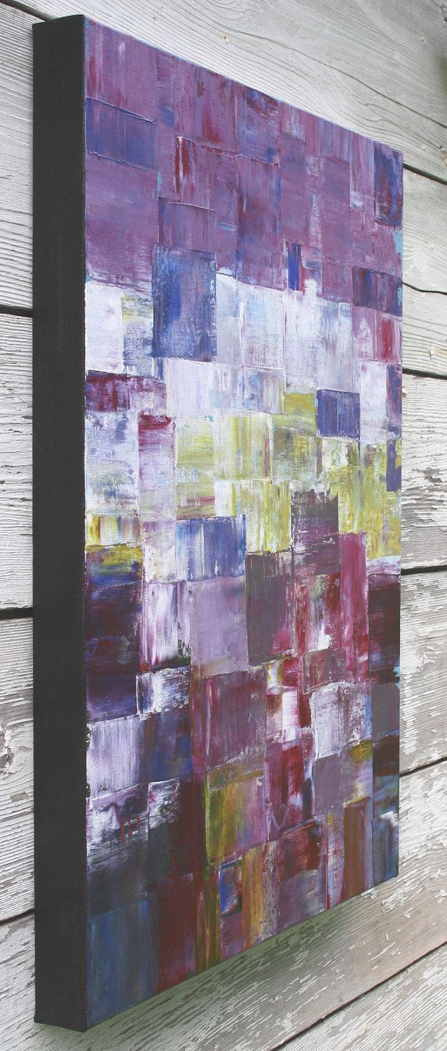 Abstract Painting In Purple And Violet Purple Haze 18x24