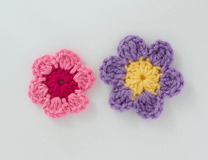 Easy Crochet Flower Pattern Crochet And Knit Misc Pinterest
