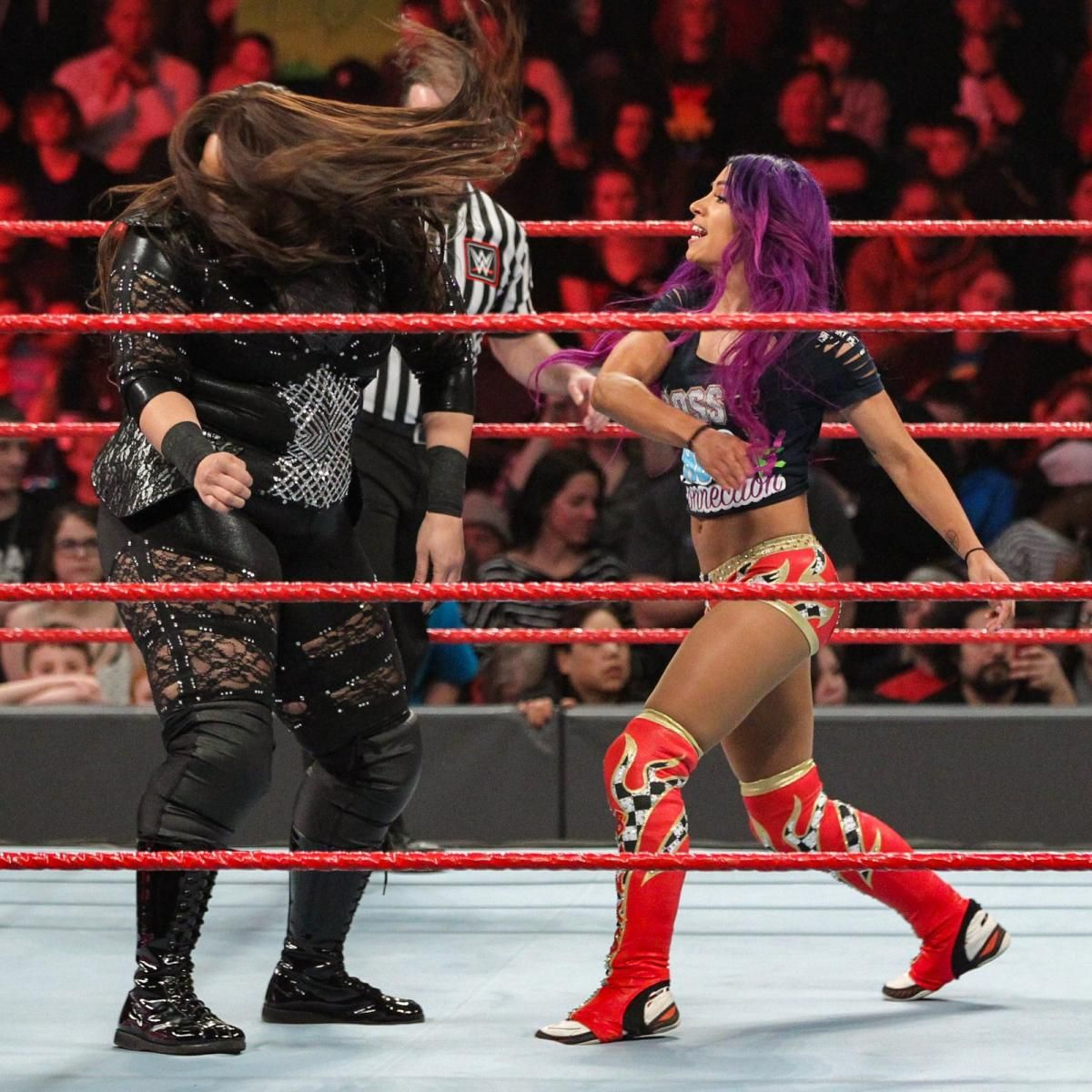 Photos Trio Of Team Red Tandems Battle With Major Elimination Chamber Match Ramifications Wwe Girls Raw Women S Champion Sasha Bank