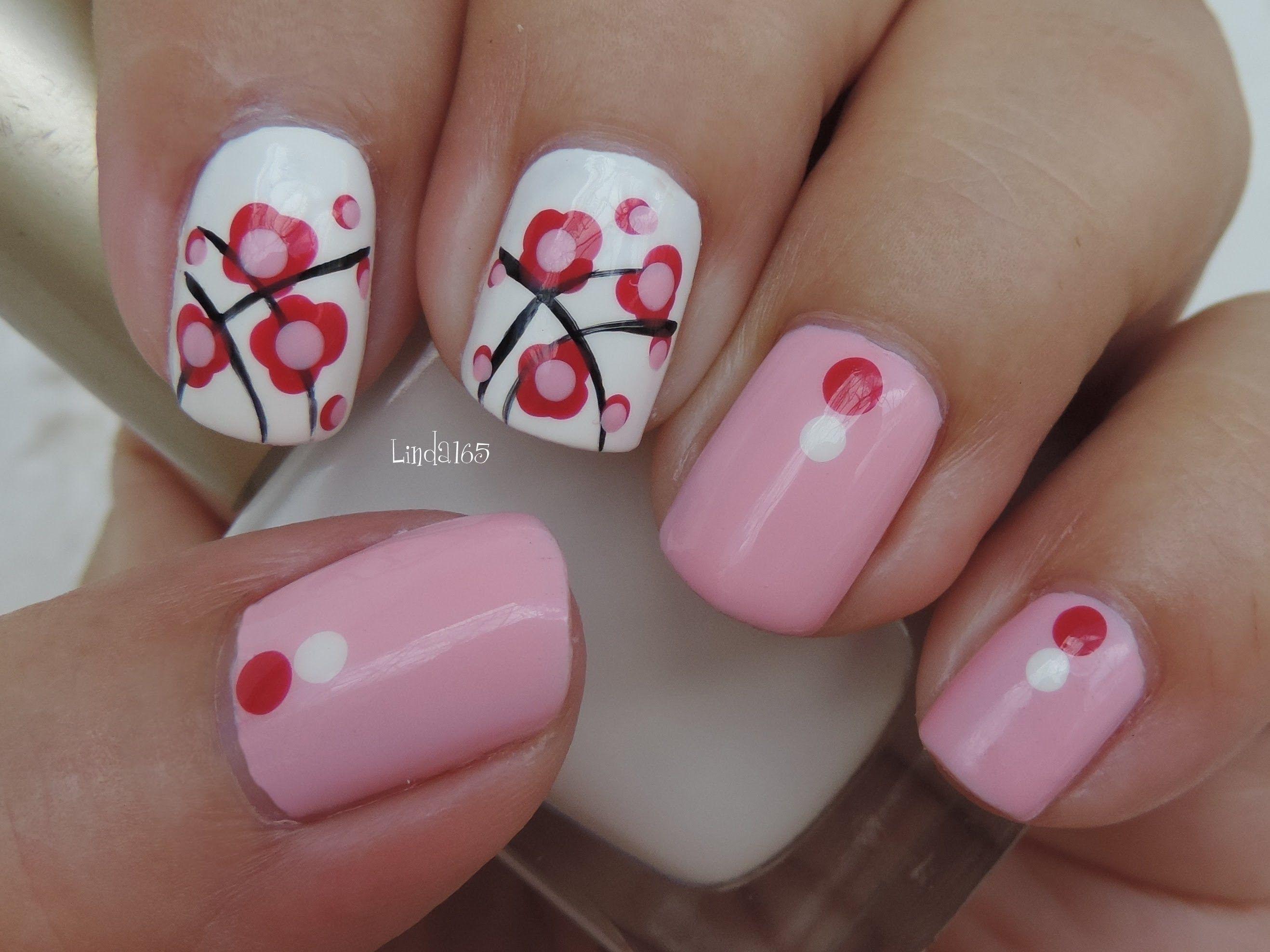 Nail Art - October in Pink - Second Design - Decoracion de Uñas (+ ...