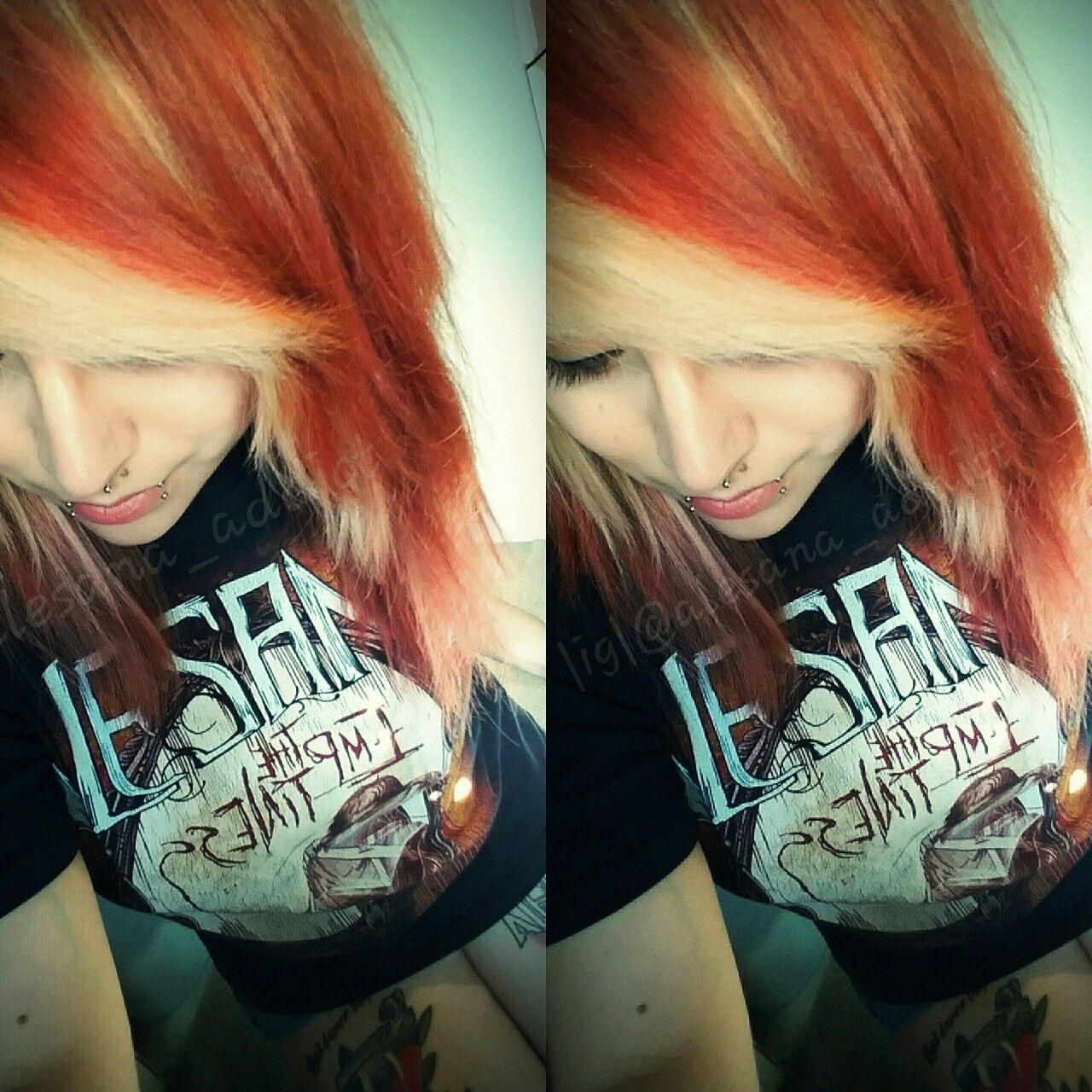 @alesana_addict #redhair #blondehair #fox #foxhair #alesana #theemptiness #piercings #septum #snakebites