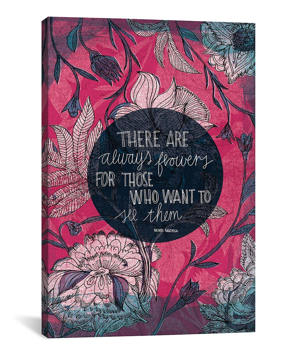 Henri Matisse Quote Wrapped Canvas by iCanvas zulily