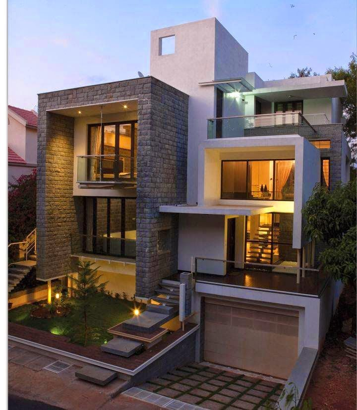 Modern and stylish exterior design ideas pinterest for Exterior villa design photo gallery