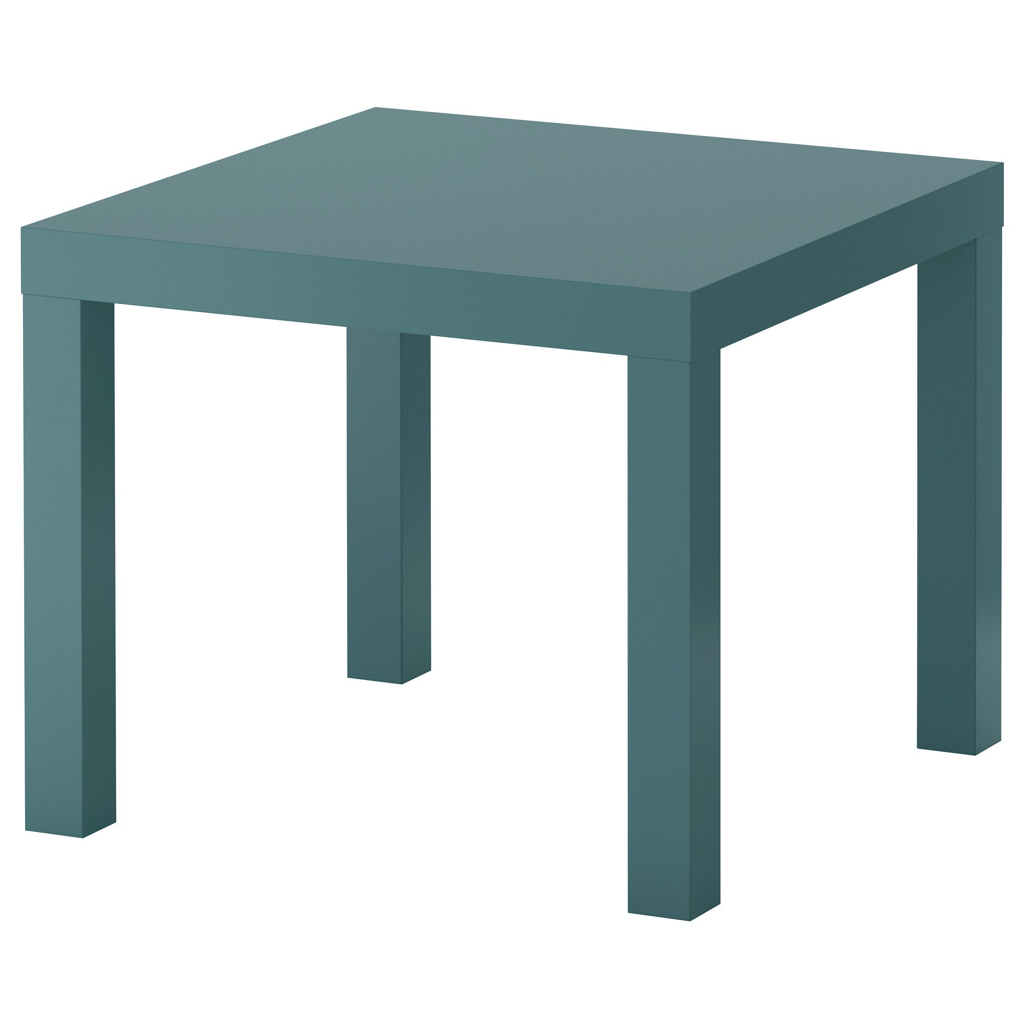 LACK Side table - gray-turquoise, 21 5/8x21 5/8 \