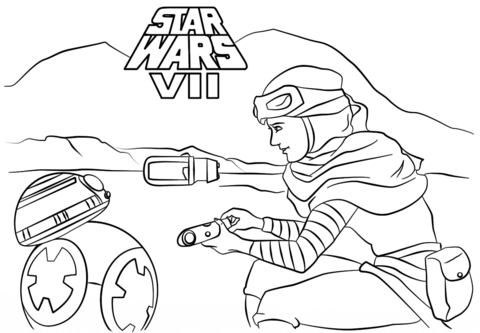 Rey And Bb 8 Coloring Page Free Printable Coloring Pages Mandala Coloring Pages Star Wars Coloring Sheet Cartoon Coloring Pages