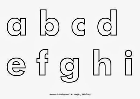 Early Play Templates Alphabet Letters Templates Lower Case