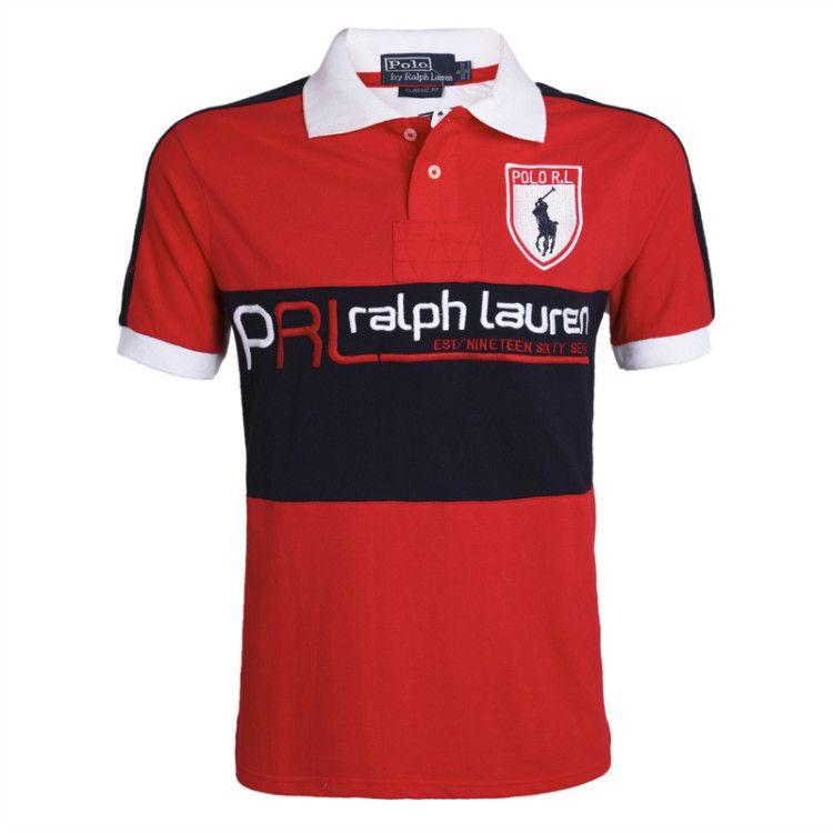 Polo Ralph Lauren Flag Black Red T-Shirt,polo ralph lauren cheap,Online
