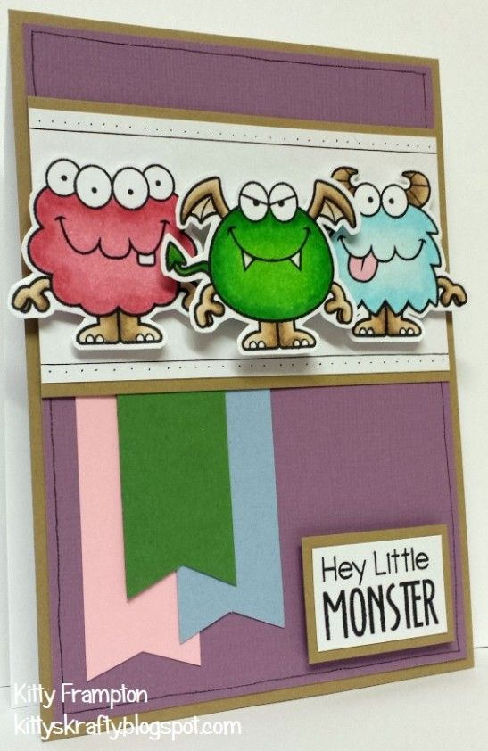 Your Next Stamp card by Kitty - Silly Monsters Set Two