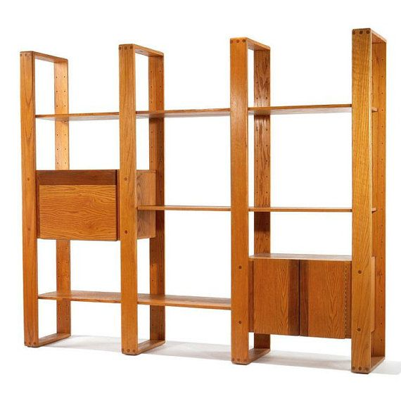 1970 S Lou Hodges Oak Wall Shelf Unit Ideias De Decoracao Para Casa Ideias De Decoracao Decoracao