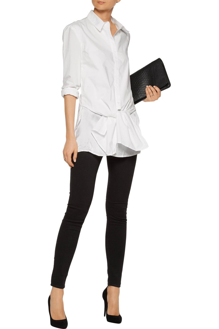 Marie tie-front cotton-poplin top | RtA | US | THE OUTNET