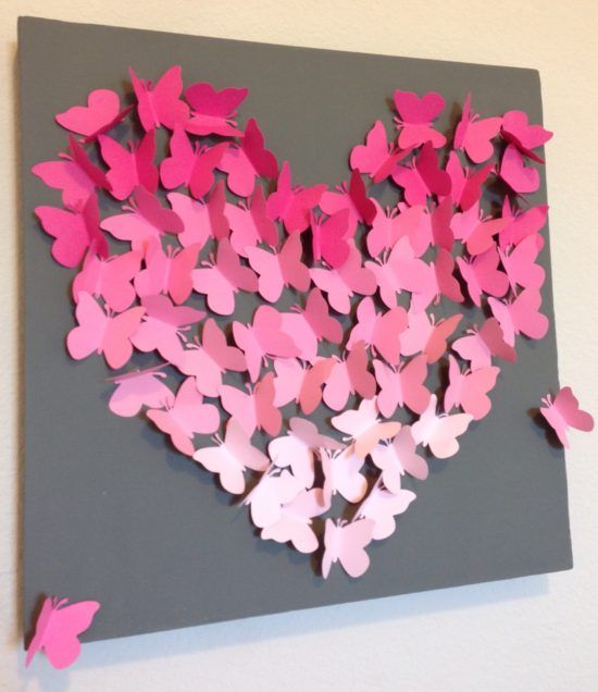 Paper butterfly wall art diy is so much fun butterfly for How to make paper butterflies for wall