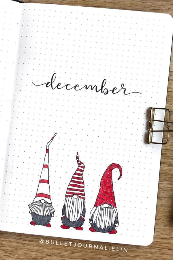 30 Best December Monthly Cover Ideas For Holiday Vibes - Crazy Laura #bulletjournal