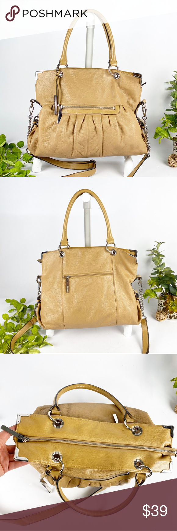 Wilson Leather Tan Tote Handbag Crossbody Strap in 2020