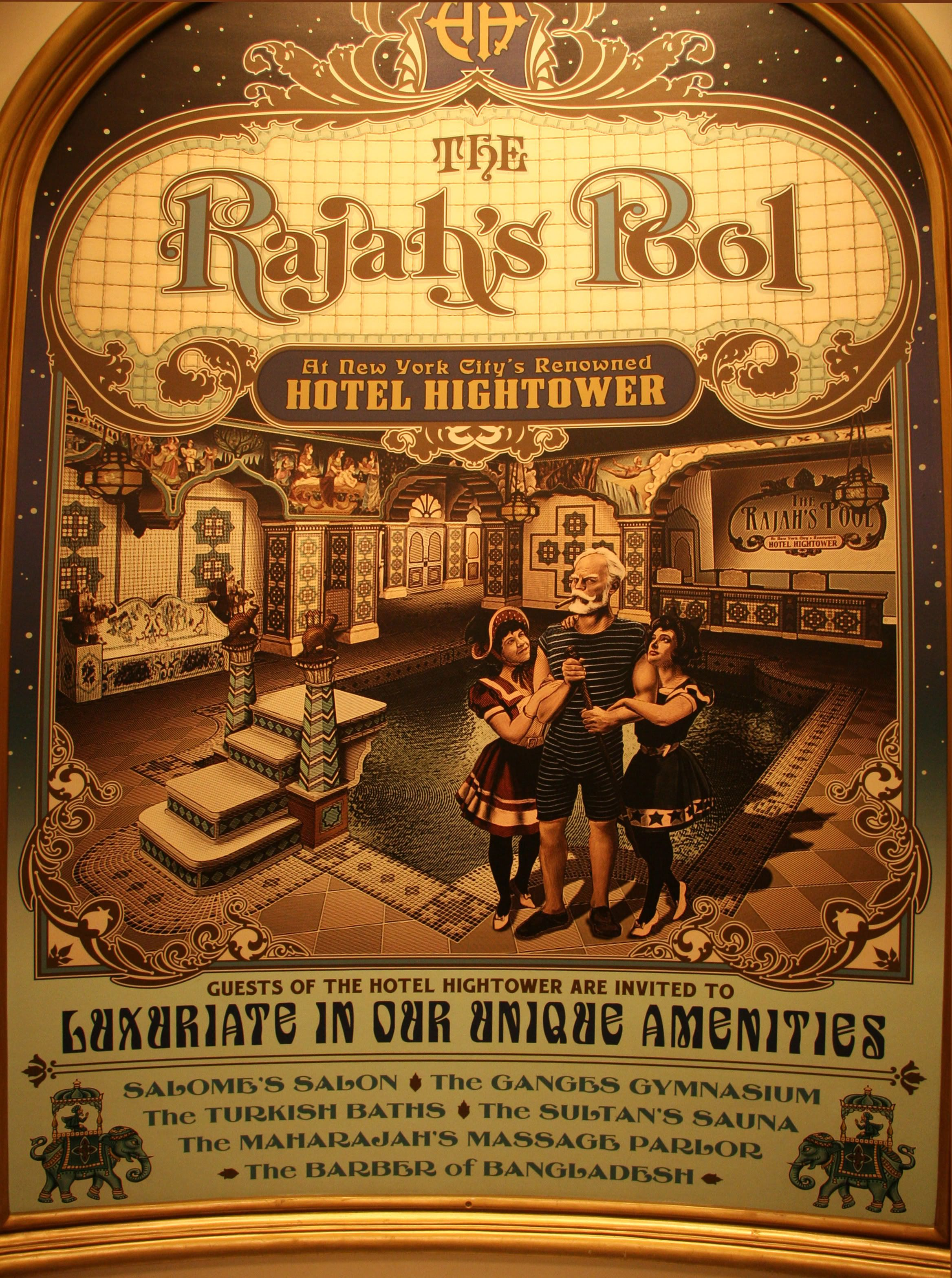 Poster For Rajah S Pool Fictive Pool At Hotel Hightower