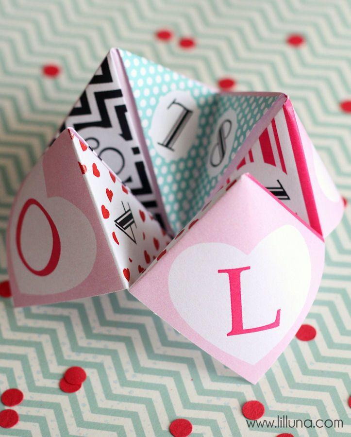 Crafts Free Valentine S Cootie Catcher Printable On Lilluna Homemade Day