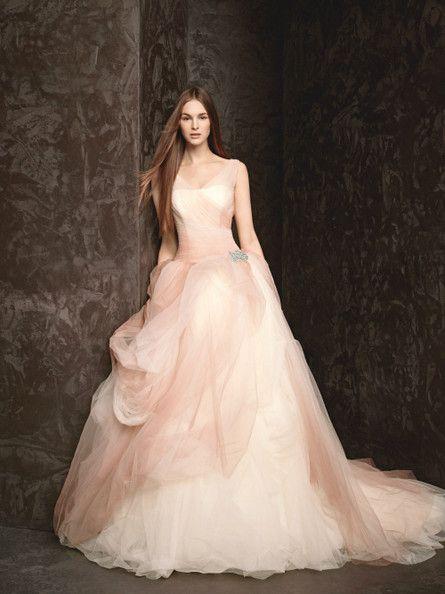 Blushing Bride Wedding Dresses Vera Wang Vera Wang Bridal Tulle Ball Gown