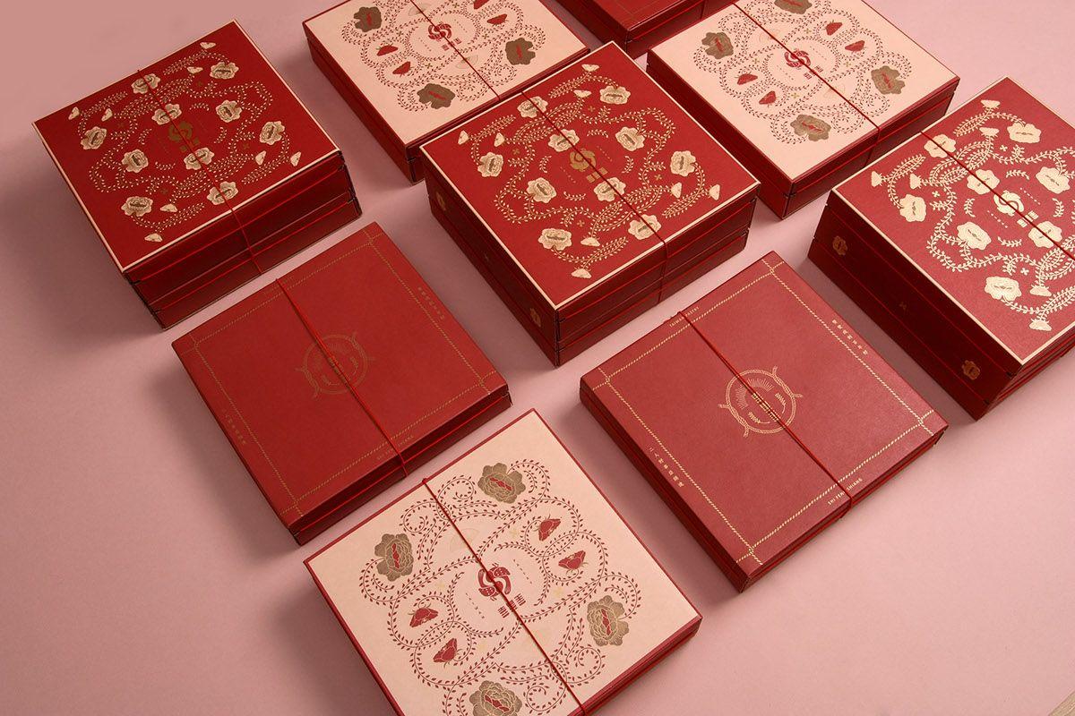 喜豐香漢餅 on Behance | Beautiful packaging design, Packaging design inspiration, Sweet box design