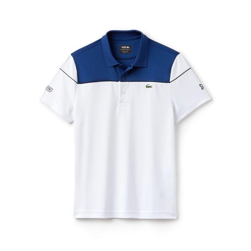 Men S Sport Tech Pique Polo Novak Djokovic Collection Polo Designer Clothes For Men Lacoste
