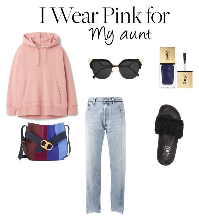 """Pink"" by kmavka ❤ liked on Polyvore featuring Vetements, Puma, Tory Burch, Fendi, Yves Saint Laurent and IWearPinkFor"