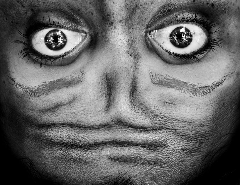 alienation anelia loubser faces flipped upside down #creativity #creatività #art #artwork