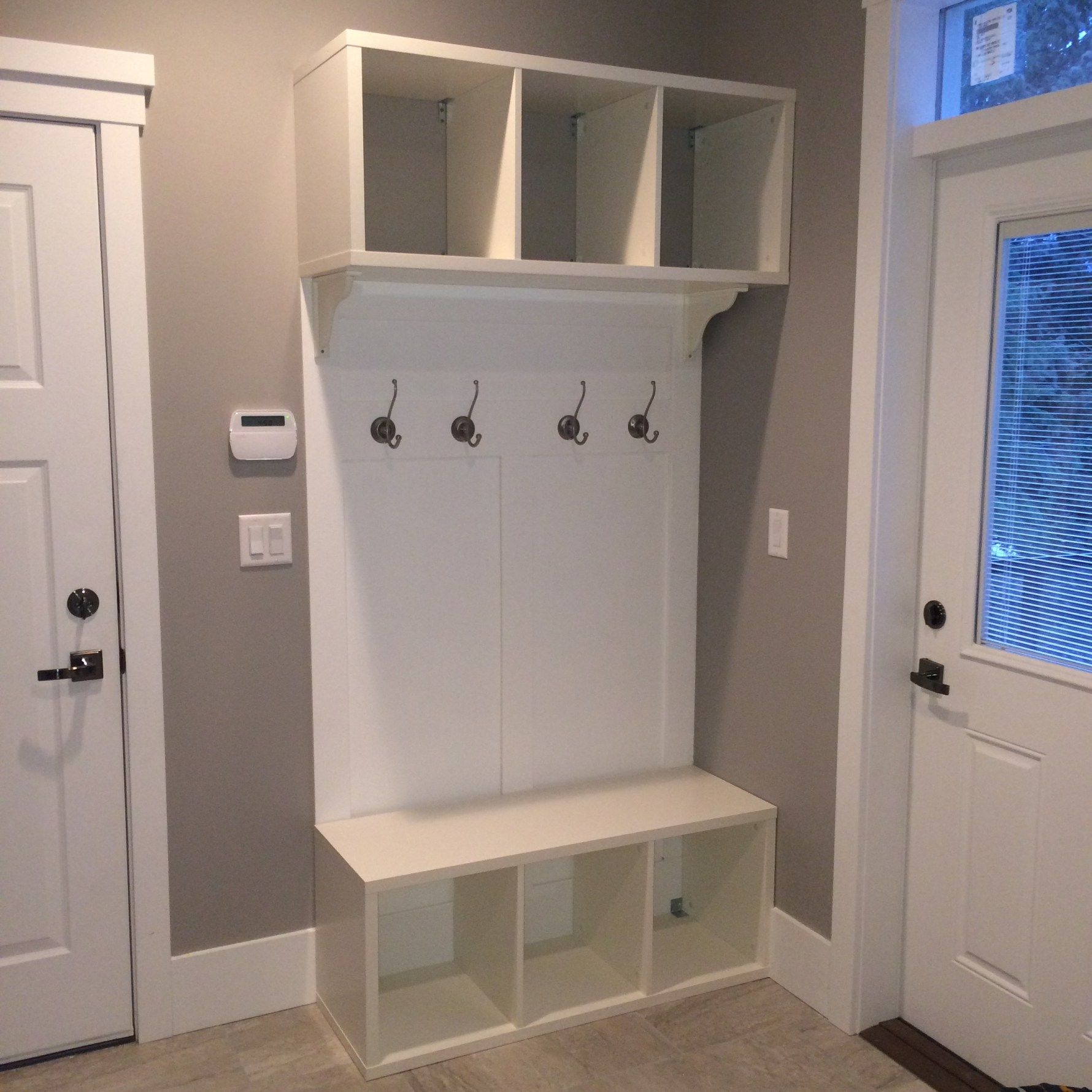 Hallway storage next  image   craft u create  Pinterest  Ikea hack Mudroom and