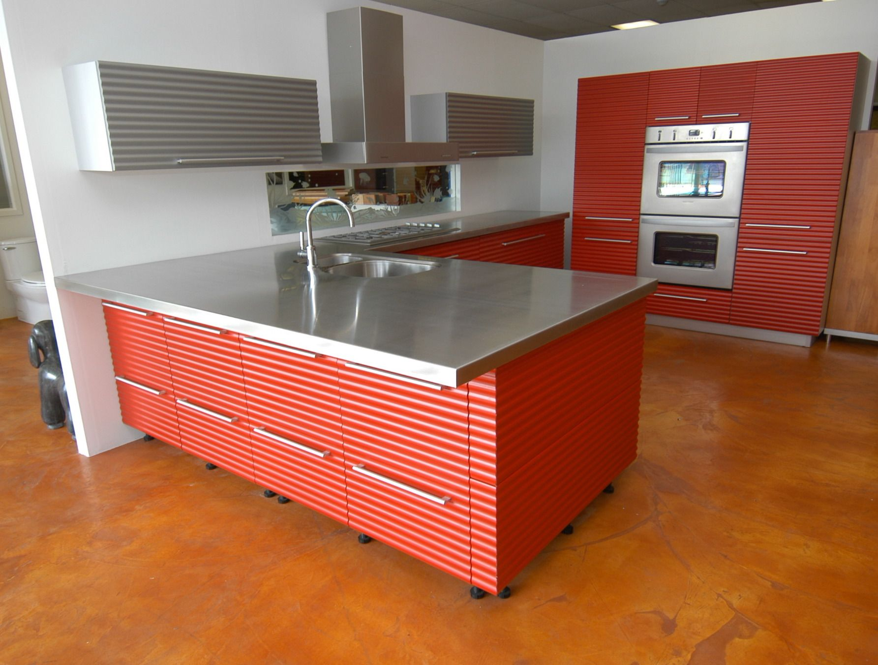 Stainless Steel Countertop With Integrated Sink Easy Clean All It Needs Is A Waste Hole And A Be Cost Of Kitchen Countertops Countertops Kitchen Countertops