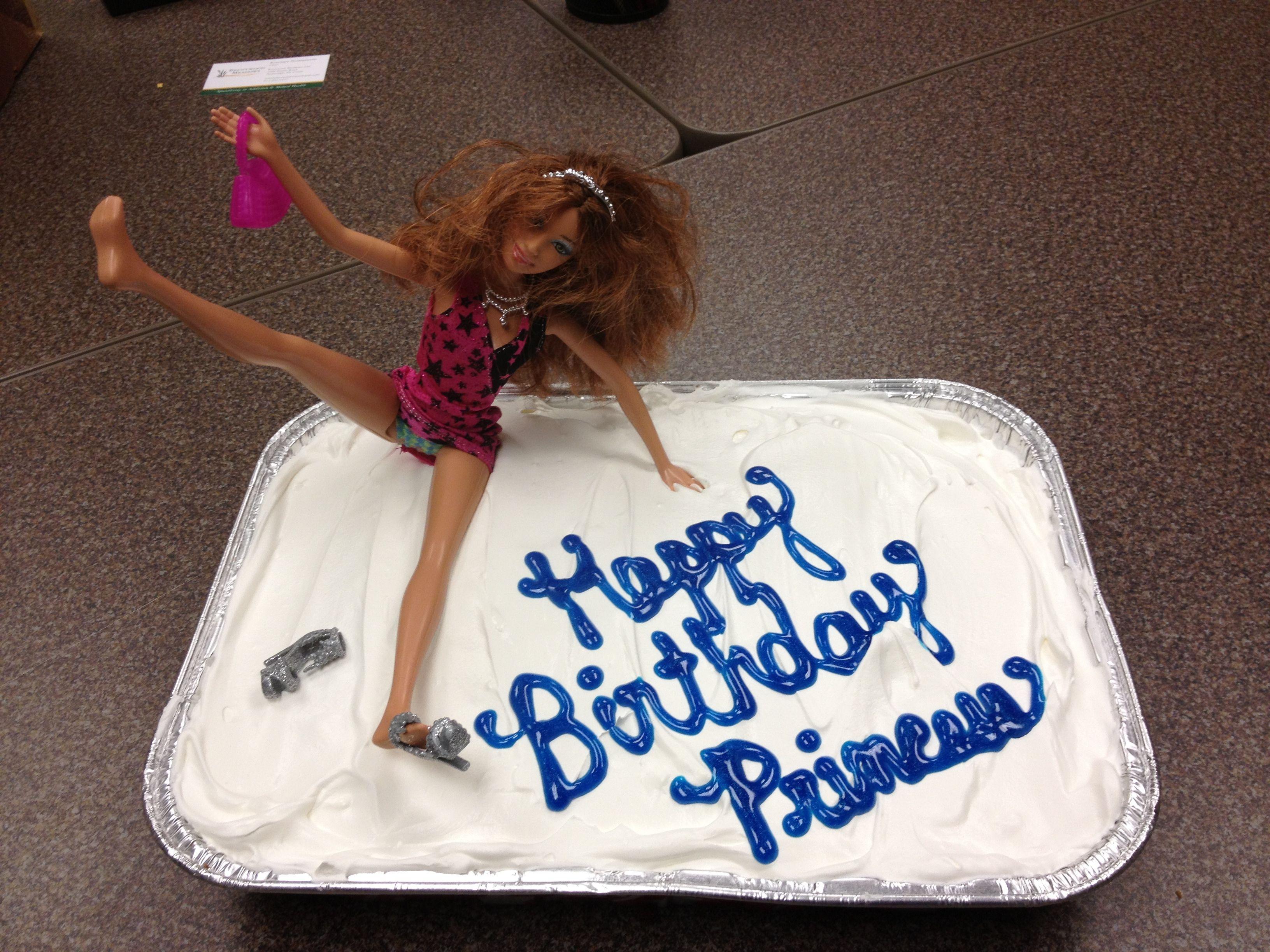 Drunk Barbie Cake for my 22 birthday Flavor Orange Dreamsickle