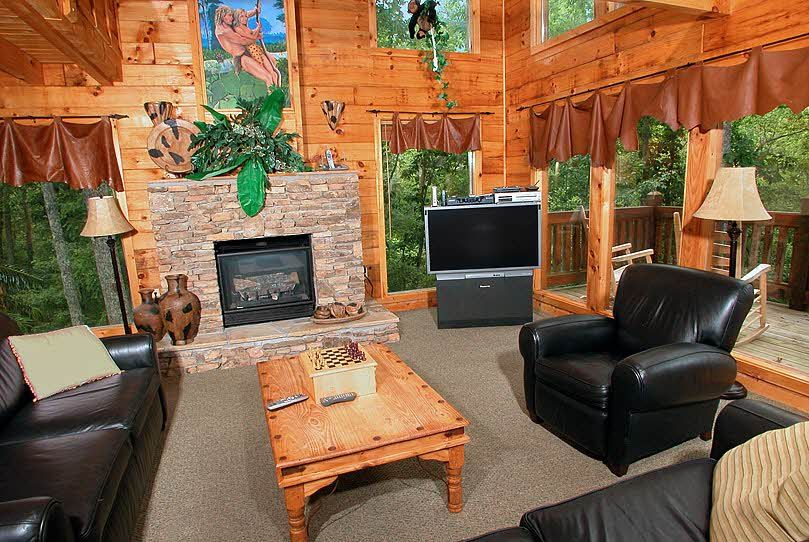 Me Tarzan You Jane 1 Bedroom Cabin Rental Luxury Log Cabins Cabin Cabin Decor