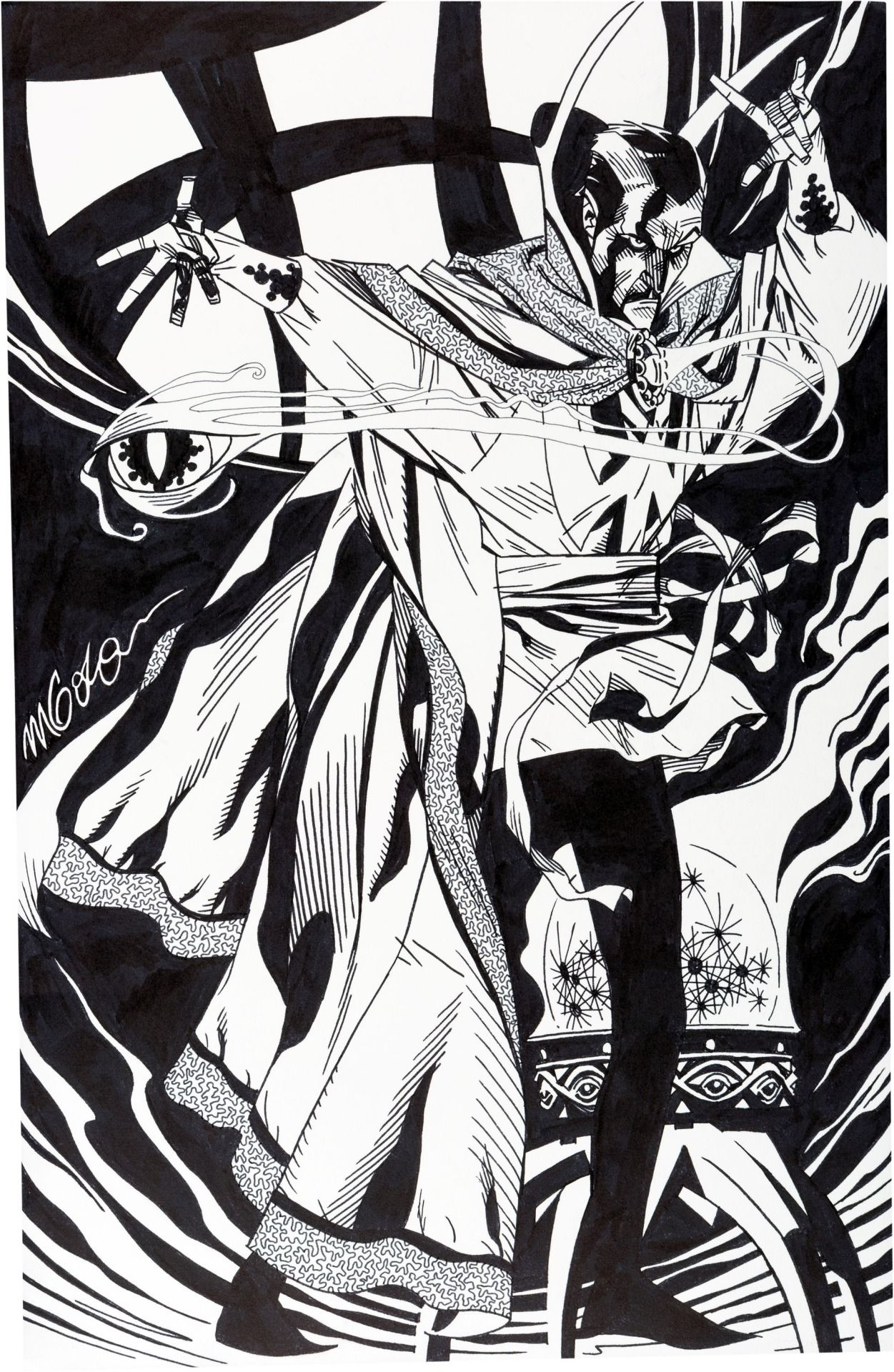 Doctor Strange Commission Illustrations By Michael Golden