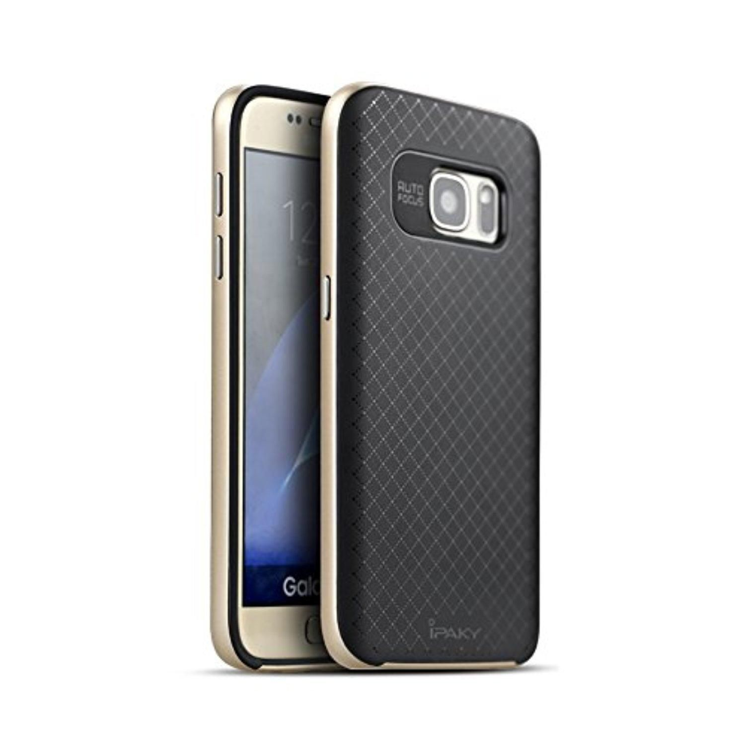 Galaxy S7 Case Rebex & iPaky Slim Fit Dual Layer Protection Case with Metallic Finish