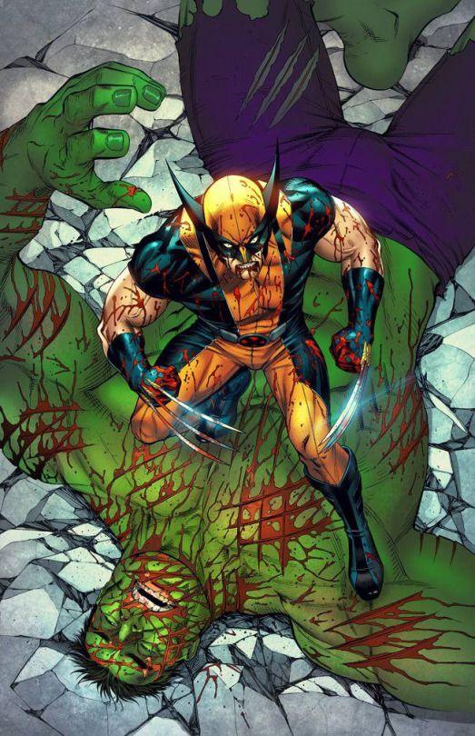Wolverine X Men Marvel Art Vs Hulk With Images Sarjakuva Ahma Sarjakuvataide
