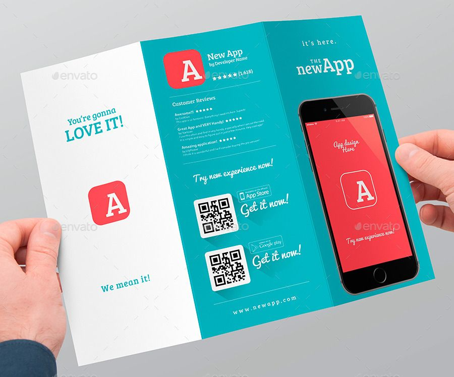 Mobile App Trifold Brochure vol1 Mobile app, Brochures and App - tri fold brochure
