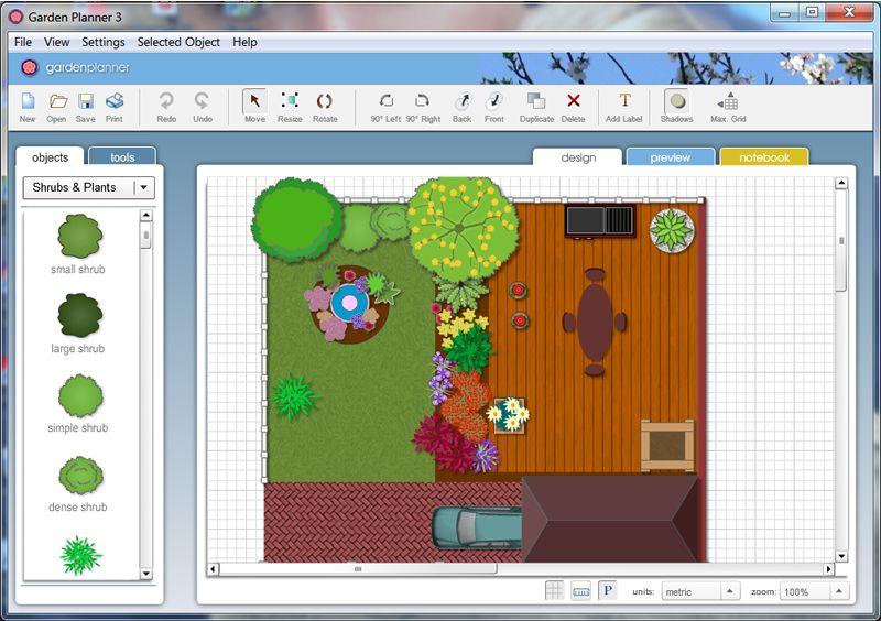 A Free Online Garden Planning Tool Http Www Smallblueprinter Com Free Landscape Design Software Garden Planner Landscape Design Software