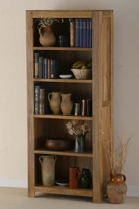 Wonderful Solid Wood Traditional Bookcase With Simple Tall Design