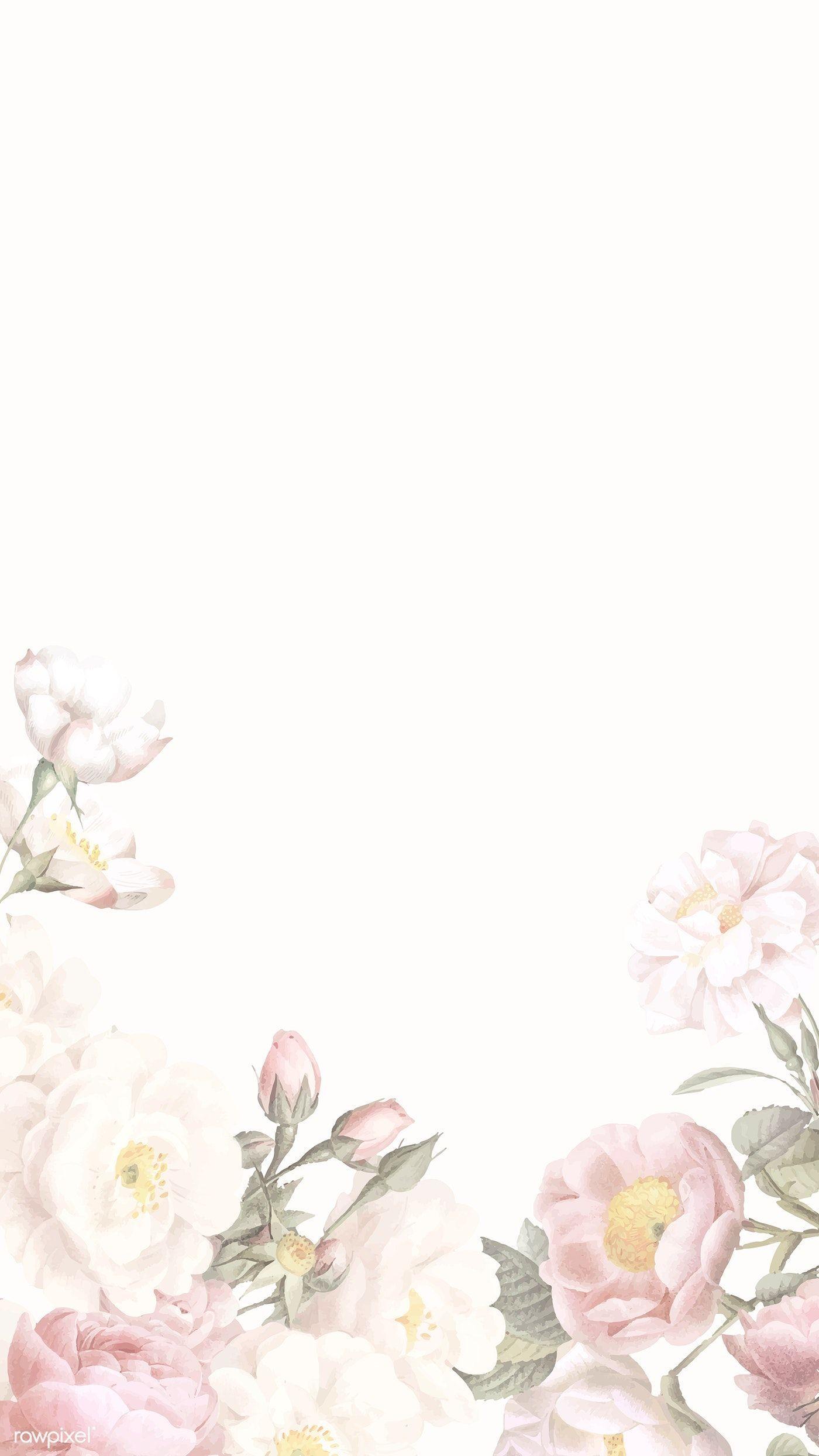 Elegant Floral Frame Design Vector   Premium Image By