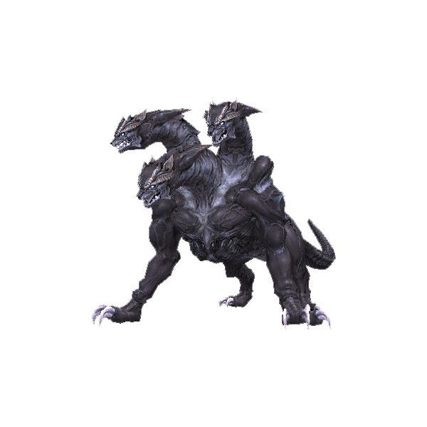 Cerberus 2 (FFXI).png ❤ liked on Polyvore featuring animals and dragons