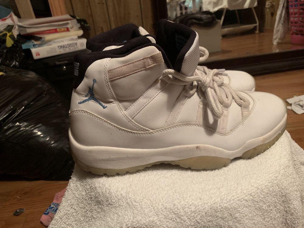 3e7d1c0a74b755 Nike Air Jordan 11 XI Retro 378037-117 White Legend Blue Men s Size 12
