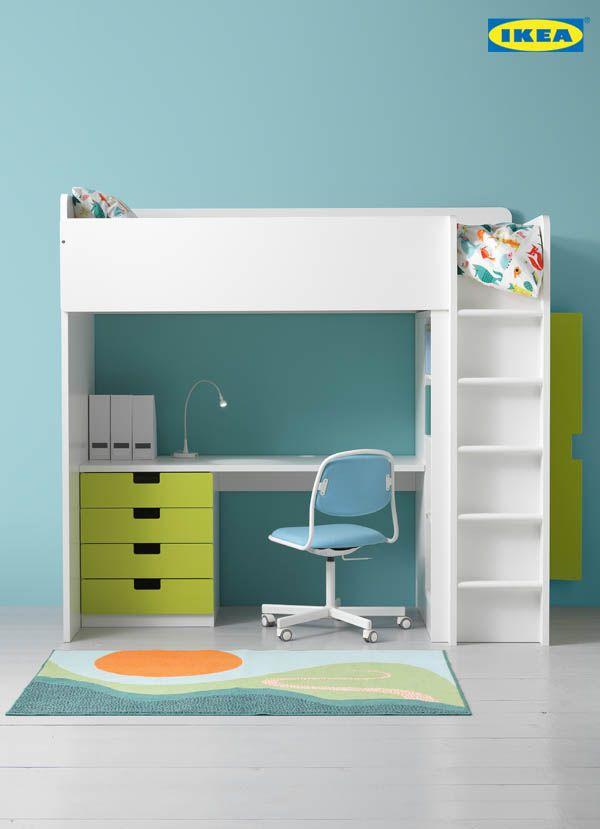 De la place pour tout la recherche d un coin lit et bureau fonctionnel compact pour votre - Lit superpose pour tout petit ...