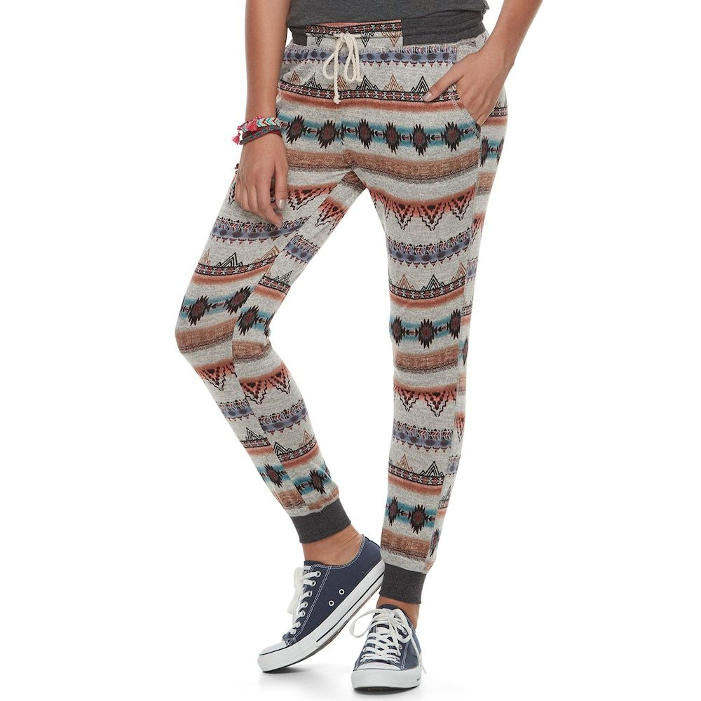Junior's About A Girl Jogger Pants, Size: Medium, Beige Oth