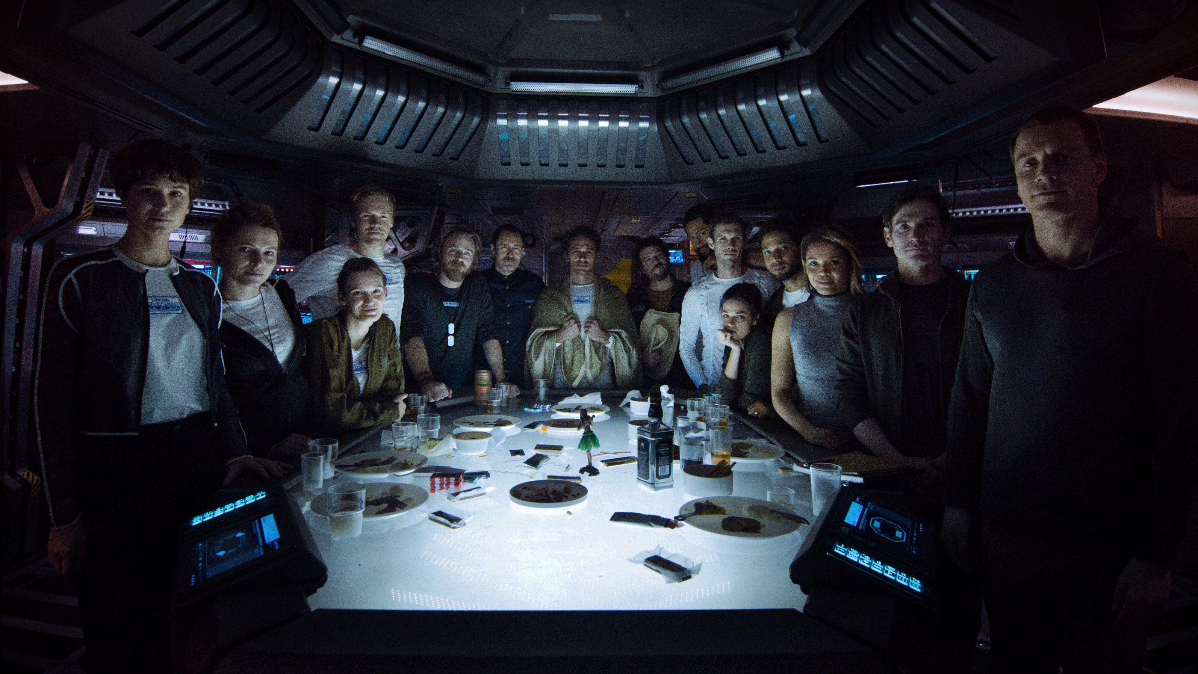 Alien Covenant Foto do elenco e lançamento de preview