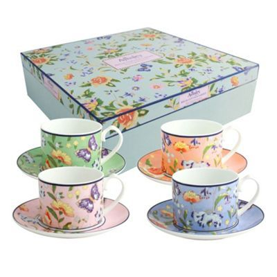 Aynsley China Aynsley Cottage Garden 4 cups and saucers set.- at ...