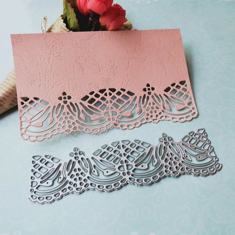Flower Lace Background Metal Cutting Dies Embossing Stencil Scrapbooking Paper